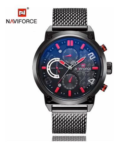Reloj Naviforce Hombre De Lujo, Correa De Metal