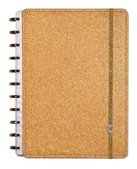 Caderno Inteligente Grande Glitter Broze Cigd4057 27969