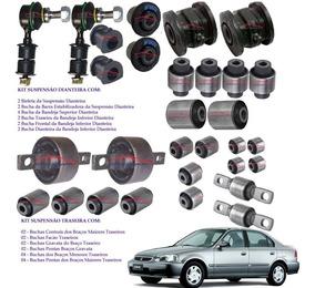 Kit 30 Buchas Suspensão Dianteira/traseira Honda Civic 96/00