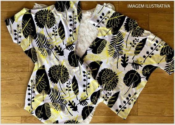 Kit Casal Vestido+camiseta Floral Pretoeamarelo