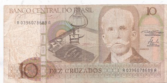 Nota Cédula Dinheiro 10 Cruzados Sem Carimbo