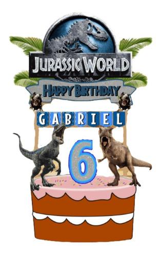 Imagen 1 de 6 de Cake Topper Jurassic World Adorno Para Tortas