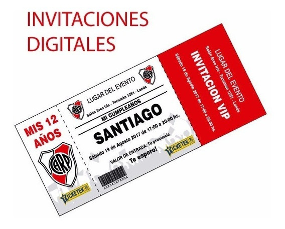 Invitación Tipo Ticket Digital