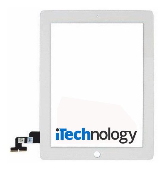 Mica Tactil iPad 2 + Boton Home + Adhesivo Color Blanco!