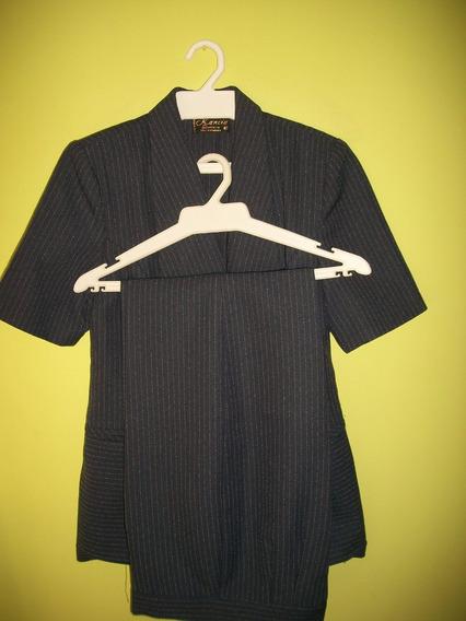 Conjunto Bleiser Dama Chaqueta Pantalon Azul