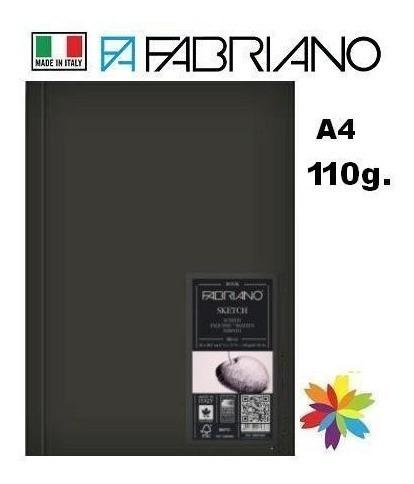 Cuaderno Fabriano Sketch 110grs. A4 80 Hojas. Barrio Norte