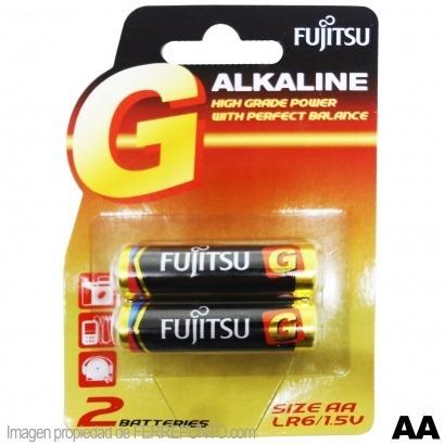Pila/ Baterías Alcalina Aa Fujitsu Blister De 2 Und.