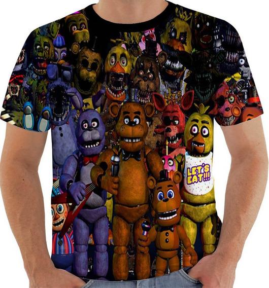 Camiseta Kw 150 Five Nights Freddy Bonnie Chica Foxy Golden