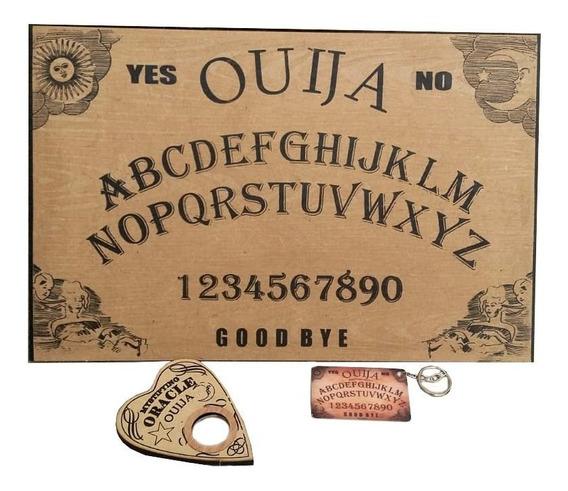 Tabuleiro Ouija Com Ponteiro E Chaveiro Verniz