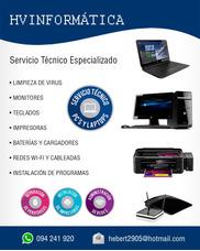 Reparación Computadoras Servicio Tecnico Notebook Impresoras