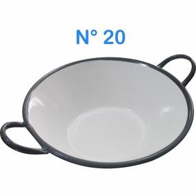 Tacho Esmaltado Ferro Nº 20 Fritura Pastel Salgados Fogão