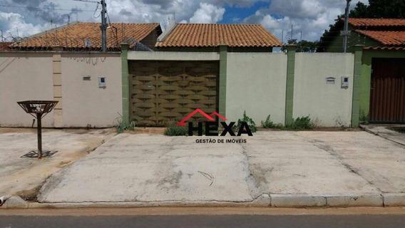 Casa Residencial Tres Quartos , Para Venda Ou Locação, Jardim Buriti Sereno, Aparecida De Goiânia. - Ca0046