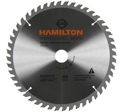 Sierra Circular Diente Hamilton 255mm  Ss2548 48d P/madera