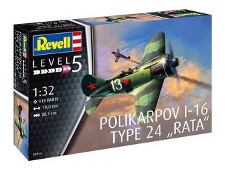 Polikarpov I-16 Type 24 Rata Escala 1/32 Revell 03914