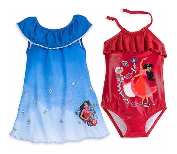 Traje De Baño Y Bata De Baño Elena Avalor Disney Store T5/6