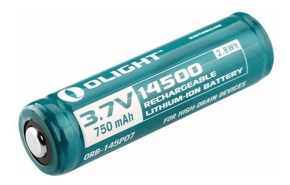 2x Baterias Olight 14500 750mah Recarregável Lithium-ion