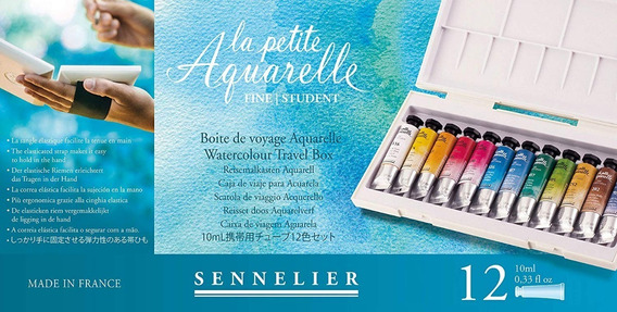 Acuarela Sennelier 12 Tubos 10ml La Petit Aquarelle