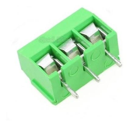 10 Terminal Kre Block Borne Conector Triplo 3 Vias Verde