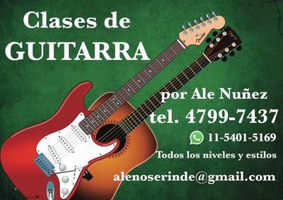 Clases De Guitarra Online -en Olivos - Zona Norte - Skype
