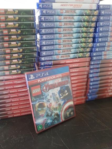 Lego Marvel Vingadores Ps4 Lacrado Frete 18 Reais
