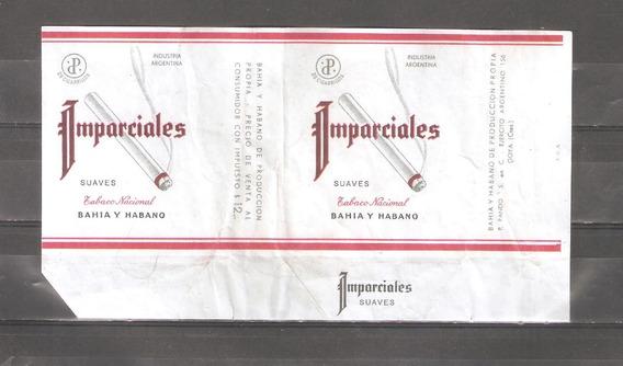 Imparciales Cigarrillos Marquilla Caja Antigua