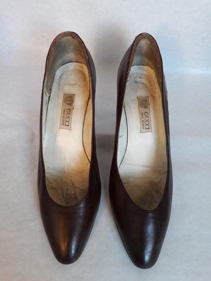 Zapatos Stilettos Gucci Originales Cuero Talle 36