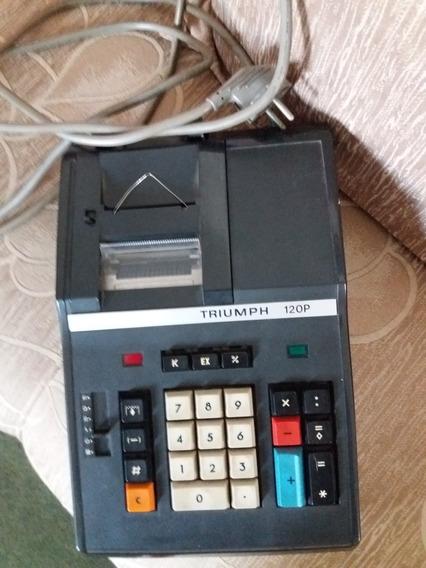 Calculadora Antiga Triumph 120p Funcionando