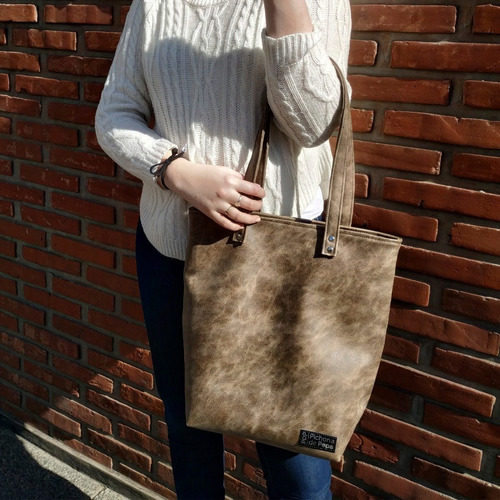 Cartera Shopping Bag - Modelo Alhambra Habano