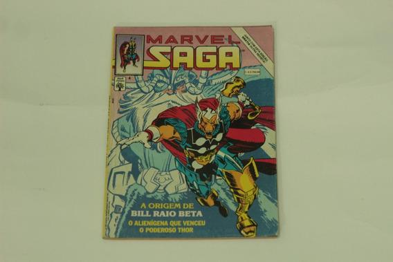 Hq Marvel Saga N°4 Origem Bill Raio Beta Gibi Editora Abril