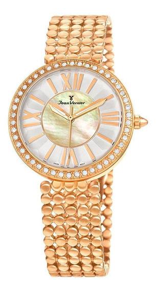 Relógio Pulso Jean Vernier Elegante Feminino Jv01322