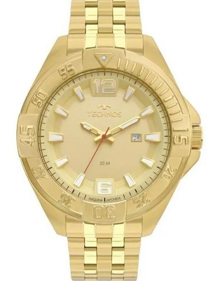 Relógio Technos Masculino Ref: 2115mto/4x Big Case Dourado