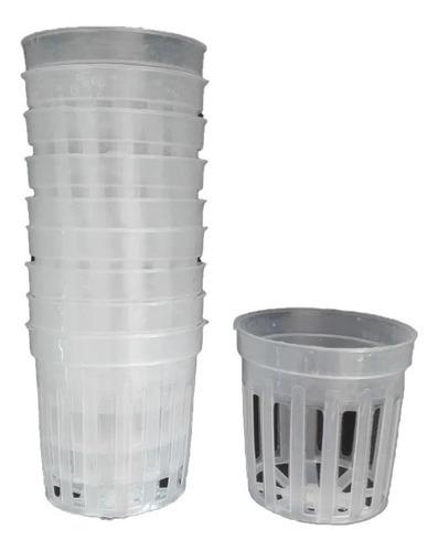 Imagen 1 de 2 de Maceta Plastica. Canastilla. Hidroponia X 10 Uni. Cultivos.