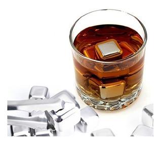 8 Cubos Hielo Acero Inoxidable Enfriar Cualquier Bebida Orig