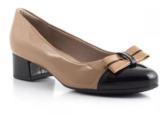 Sapato Feminino Piccadilly 141077 Tan/preto