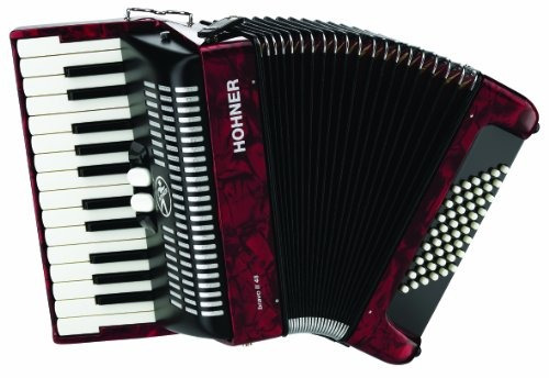Imagen 1 de 2 de Hohner Accordions Br48rn 26key Piano Accordion, 48 Bass, Red
