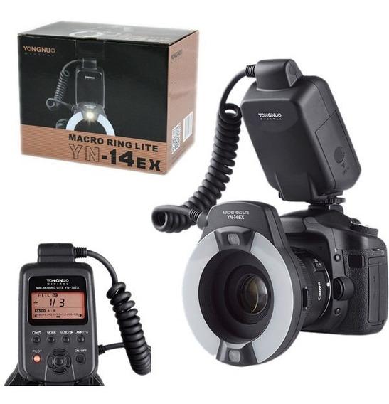 Flash Circular Macro Yn-14ex Ttl Todas Canon 12x Sem Juros