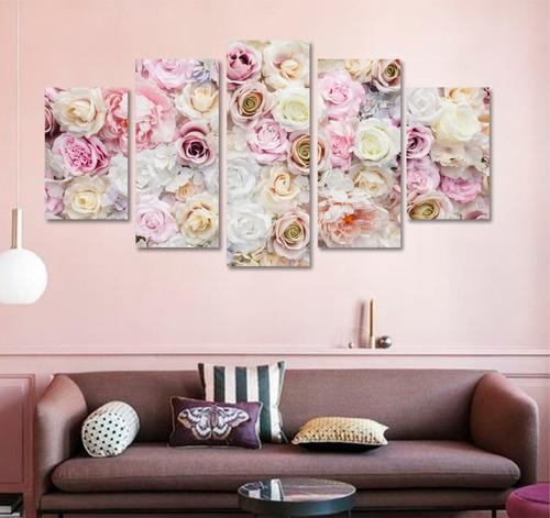 Quadros Decorativo Moderno Flores Rosas Floral Em Mdf 3mm