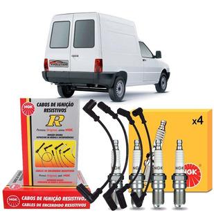 Jogo Cabos + Velas Fiat Fiorino 1.0 93 94 95 96 Gasolina/gnv