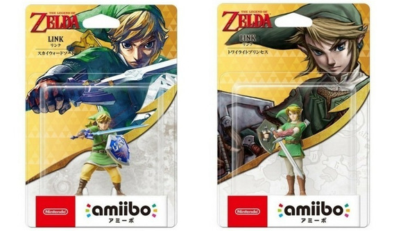 Amiibos Link Skyward Sword Twilight Princess Legend Of Zelda