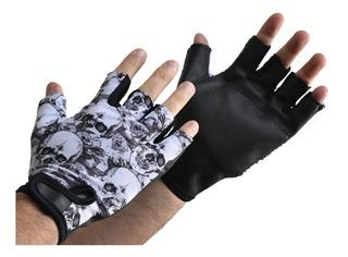 Guante Para Pesas Mancuernas Sonnos Black Skull