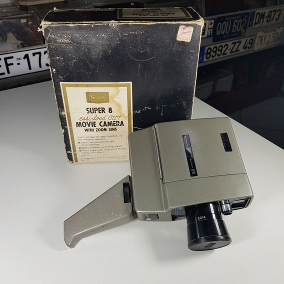 Câmera Super 8mm Easi-load C117 Movie Camera With Zoom Lens