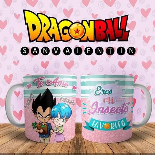Imagen 1 de 6 de Plantillas Para Tazas Amor Dragon Ball Sublimacion