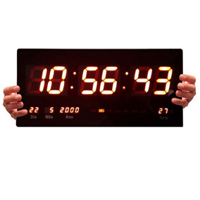 Relógio Parede Led Digital Gigante 46cm C X 23cm Oferta