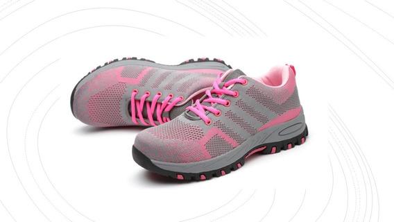 Zapatos De Seguridad Mujer Solo Hoy!! + Plantilla Gratis!