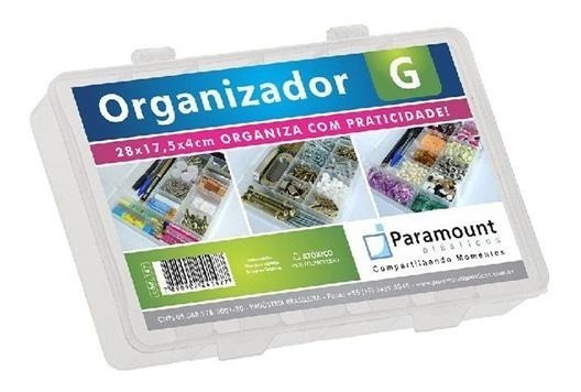 Caixa Organizador Paramount G Box 11 Divisórias