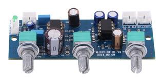 Placa Pre Amplificador 2.1 Caixa Ativa Subwoofer C/ Low Pass