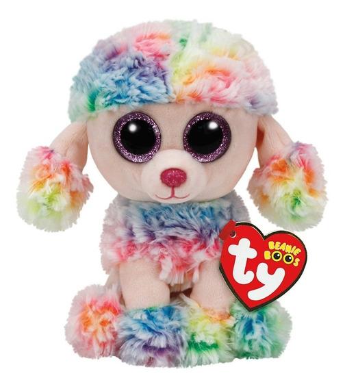 Pelucia Ty Beanie Boos Rainbow Poodle M 22cm Dtc 3814