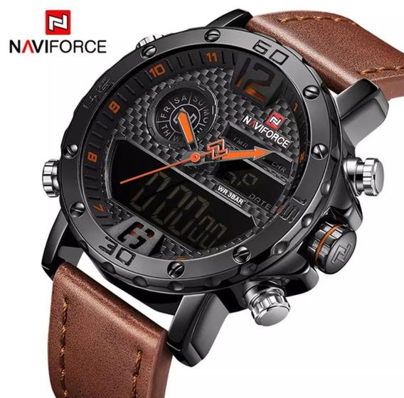 Relógio Masculino Naviforce Fossil Preto Fosco Original Cour