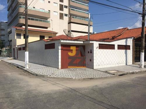 Excelente Casa Com 4 Dormitórios Sendo 3 Suítes, À Venda Por R$ 650.000 - Ocian - Praia Grande/sp - Ca12594