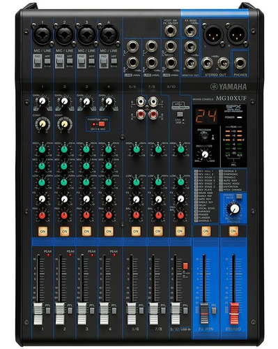 Consola Yamaha Mg10xuf Usb Faders 10 Canales Nueva Garantia